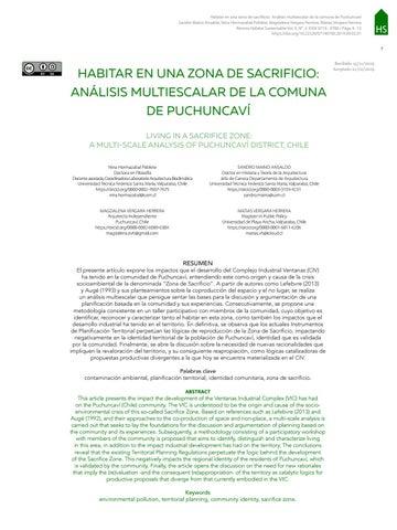 Page 9 of HABITAR EN UNA ZONA DE SACRIFICIO. ANÁLISIS MULTIESCALAR DE LA COMUNA DE PUCHUNCAVÍ