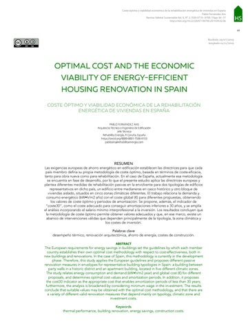 Page 67 of OPTIMAL COST AND THE ECONOMIC VIABILITY OF ENERGY-EFFICIENT HOUSING RENOVATION IN SPAIN