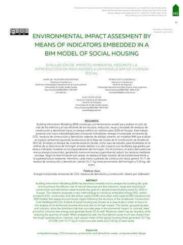 Page 81 of ENVIRONMENTAL IMPACT ASSESMENT BY MEANS OF INDICATORS EMBEDDED IN A BIM MODEL OF SOCIAL HOUSING