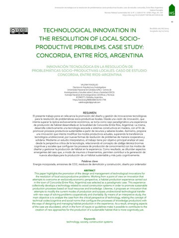 Page 97 of TECHNOLOGICAL INNOVATION IN THE RESOLUTION OF LOCAL SOCIOPRODUCTIVE PROBLEMS. CASE STUDY: CONCORDIA, ENTRE RÍOS, ARGENTINA