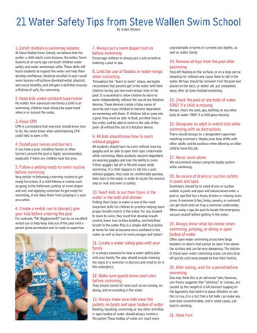 Page 13 of Water Safety Tips