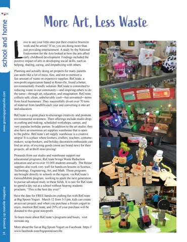 Page 14 of More Art, Less Waste ReCreate Encourages Creativity