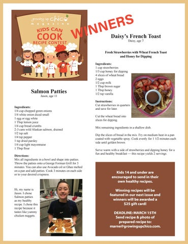 Page 19 of Kids Can Cook! Contest Winners