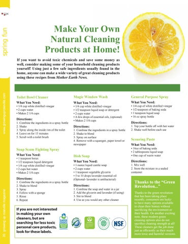 Page 20 of Make Your Own Cleaning Products