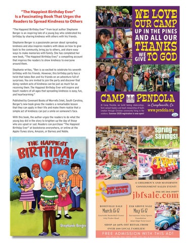 Page 9 of The Happiest Birthday Ever Urging Readers to Spread Kindness