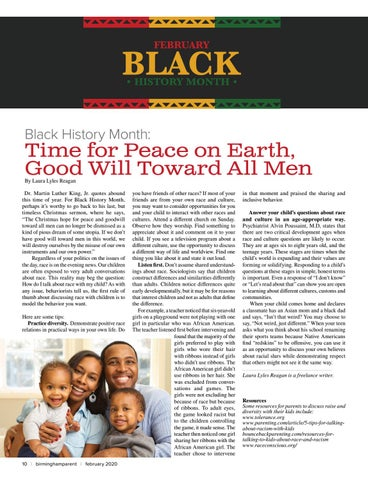 Page 10 of Black History Month: Time for Peace on Earth, Good Will Toward All Men