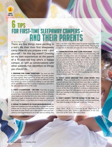 Page 16 of 6 tips for First-Time Sleepaway Campers – And Their Parents