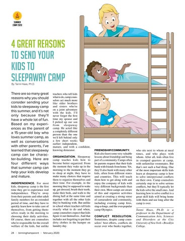 Page 24 of 4 Great Reasons To Send Your Kids To Sleepaway Camp