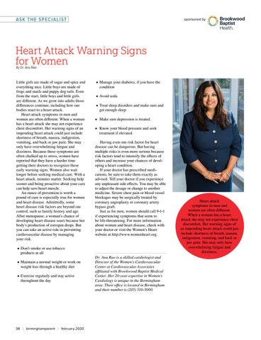 Page 38 of Heart Attack Warning Signs for Women