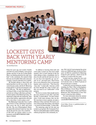 Page 46 of LOCKETT GIVES BACK WITH YEARLY MENTORING CAMP
