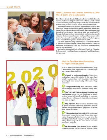 Page 8 of 10 of the Best New Year Resolutions for High School Students