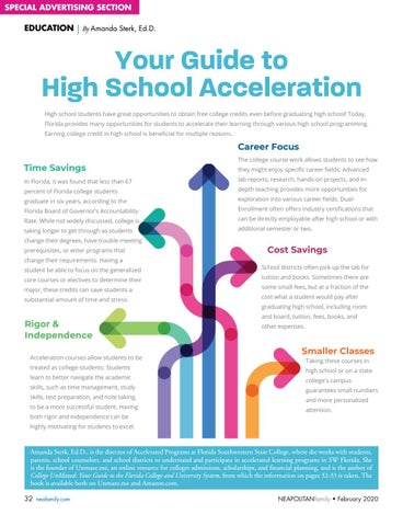 Page 32 of Ear ning College Credit. Learn how your student can get a head start on college while still in high school