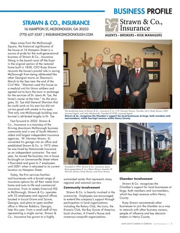 Page 5 of Strawn & Co., Insurance, Establishes Legacy – Preserves McDonough's Historic  Past
