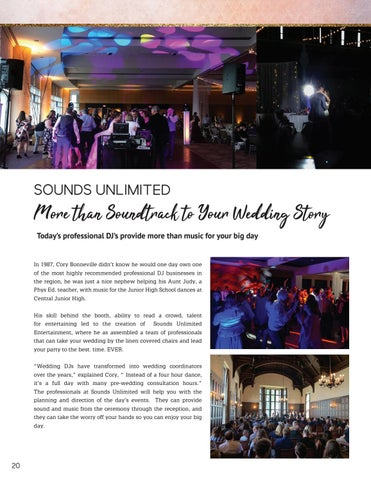 Page 20 of Sounds Unlimited - More than a Soundtrack to Your Wedding Story