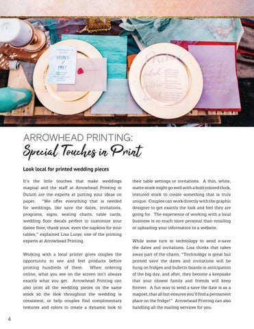 Page 4 of Arrowhead Printing - Special Touches in Print