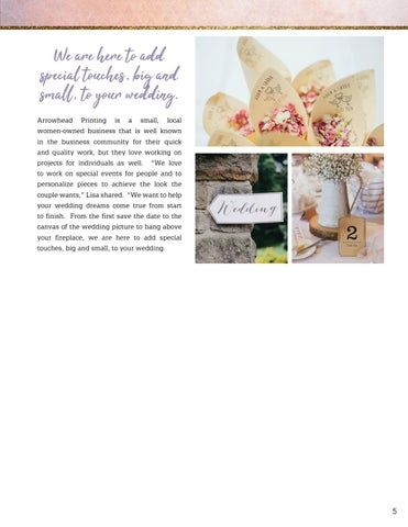 Page 5 of Arrowhead Printing - Special Touches in Print
