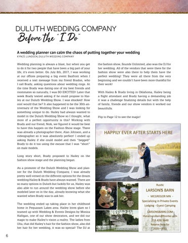 "Page 6 of Duluth Wedding Company - Before the ""I Do"