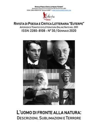 """Euterpe n°30 """"L'uomo di fronte alla natura: descrizioni"""