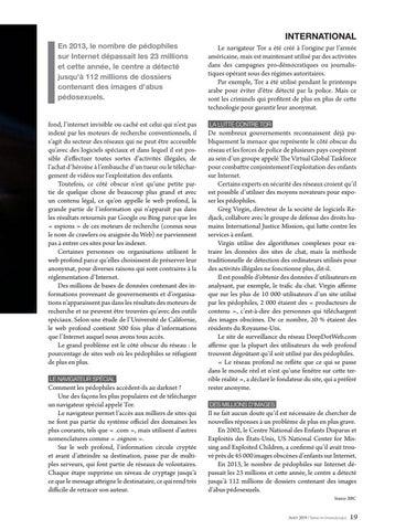 Page 19 of International LA PÉDOPHILIE AUGMENTE