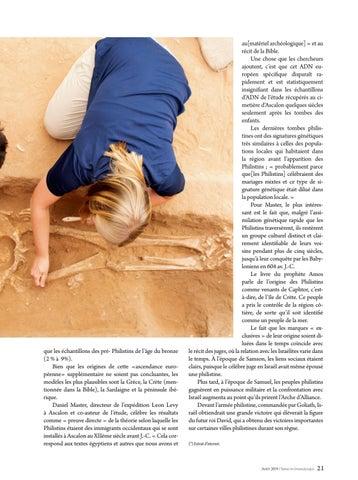Page 21 of Science L'ADN ET LA BIBLE CONCORDENT