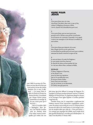 Page 25 of Musique VIVRE POUR JÉSUS. L'hymne de