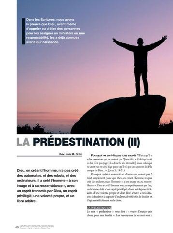 Page 40 of Apologétique LA PREDESTINATION (II). Dieu