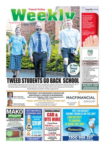 Tweed Valley Weekly January 30 2020 By Tweed Valley Weekly Issuu