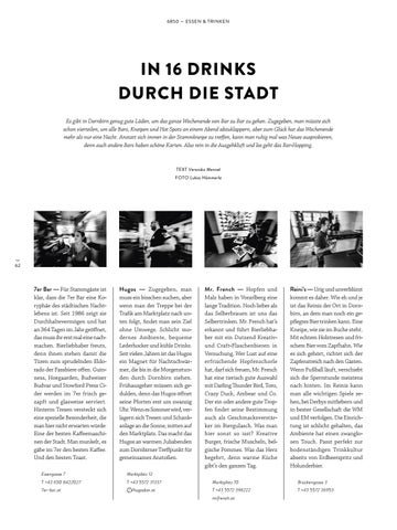 Page 62 of In 16 Drinks durch die Stadt