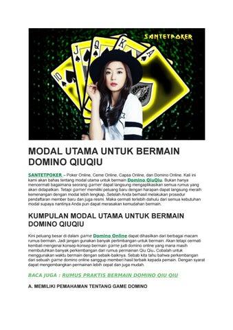 Modal Utama Untuk Bermain Domino Qiuqiu Issuu