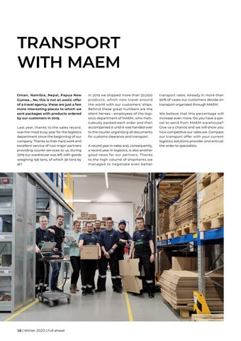 Page 16 of TRANSPORT WITH MAEM