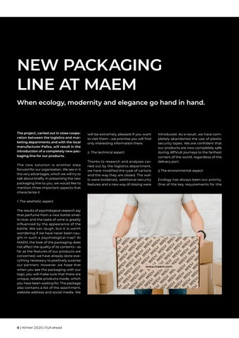 Page 6 of NEW PACKAGING LINE AT MAEM