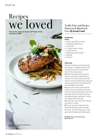Page 26 of Recipes We Loved: Truffle Fillet with Rocket, Parmesan & Matchstick Fries