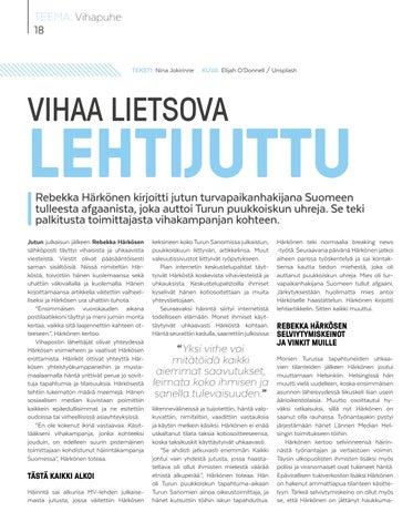 Page 18 of Vihaa lietsova lehtijuttu