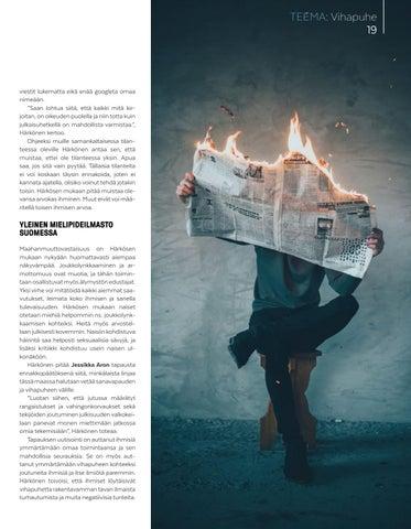 Page 19 of Vihaa lietsova lehtijuttu
