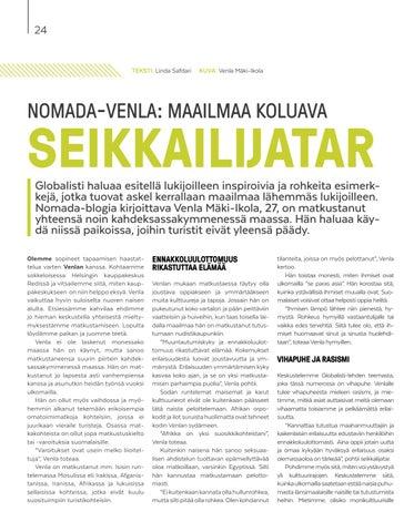 Page 24 of Nomada-Venla: Maailmaa koluava seikkailijatar