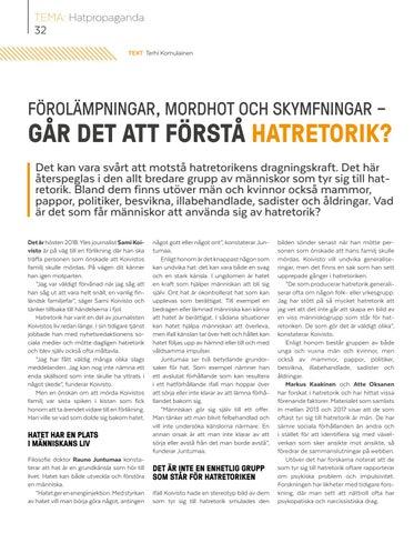 Page 32 of Förolämpningar, mordhot och skymfningar – går det att förstå hatretorik?