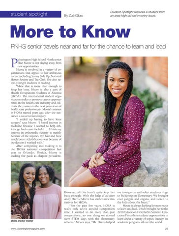 Page 23 of student spotlight