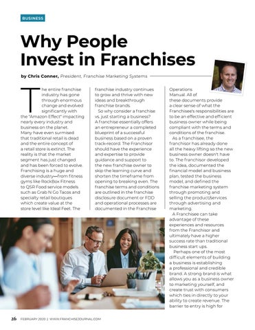 Page 28 of Why People Invest in Franchises