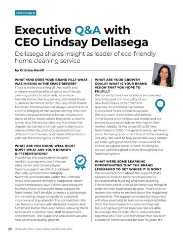 Page 38 of Executive Q&A with CEO Lindsay Dellasega
