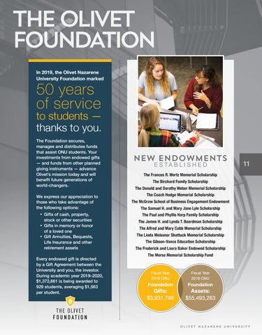 Page 11 of Overview The Olivet Foundation