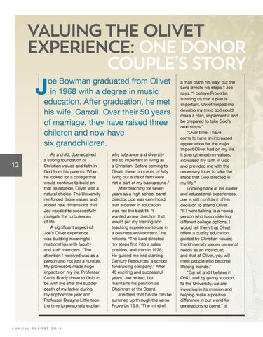 Page 12 of Valuing the Olivet Experience: One Donor's Story