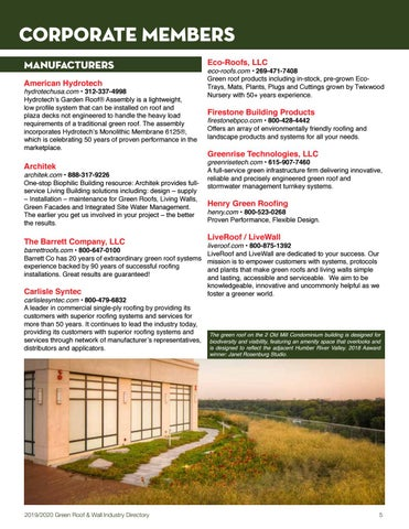 Green Pages Green Roof Wall Industry Directory By Green Roofs For Healthy Cities Issuu