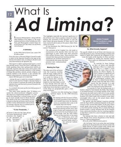 Page 12 of What Is Ad Limina