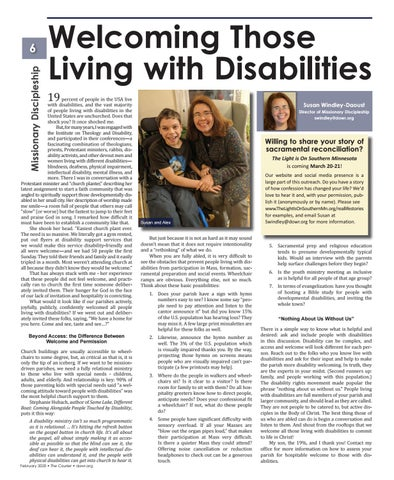 Page 6 of Welcoming Those Living with Disabilities