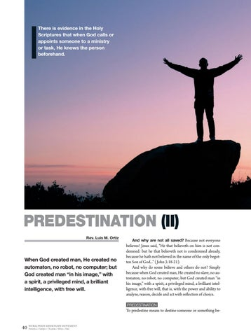 Page 40 of Apologetics PREDESTINATION (II