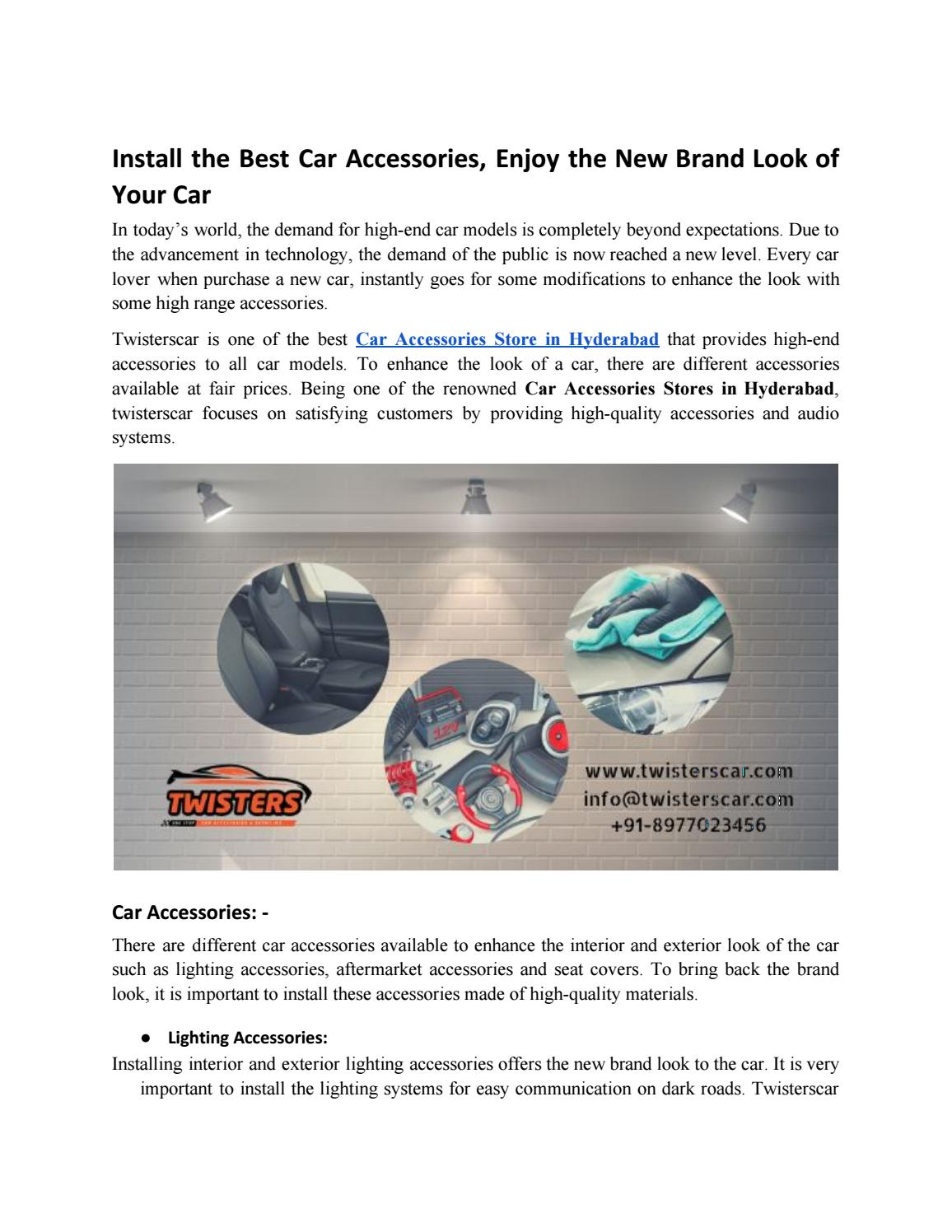 Install The Best Car Accessories Enjoy The New Brand Look Of Your Car By Twisters Hyd Issuu