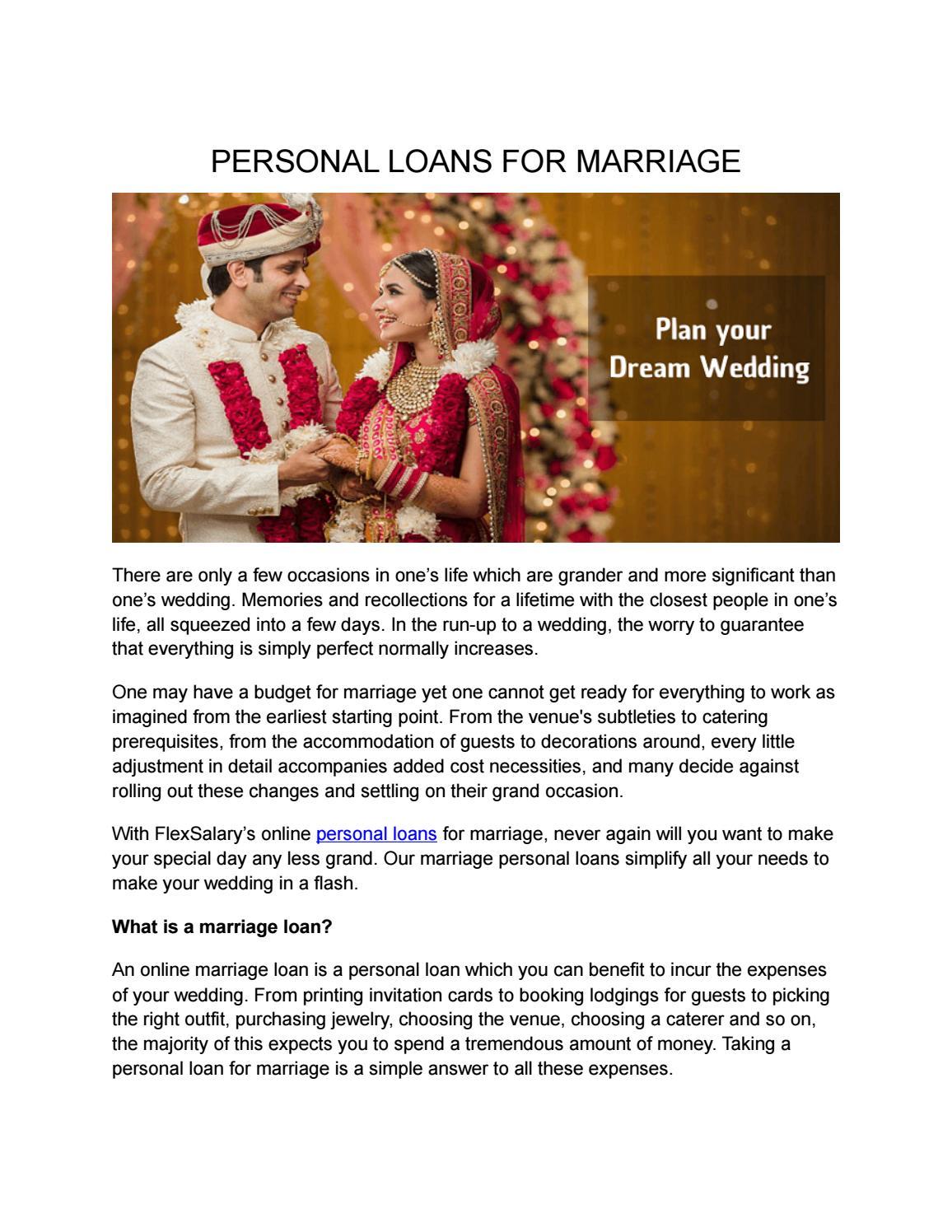 Personal Loans For Marriage By Gurusone Issuu
