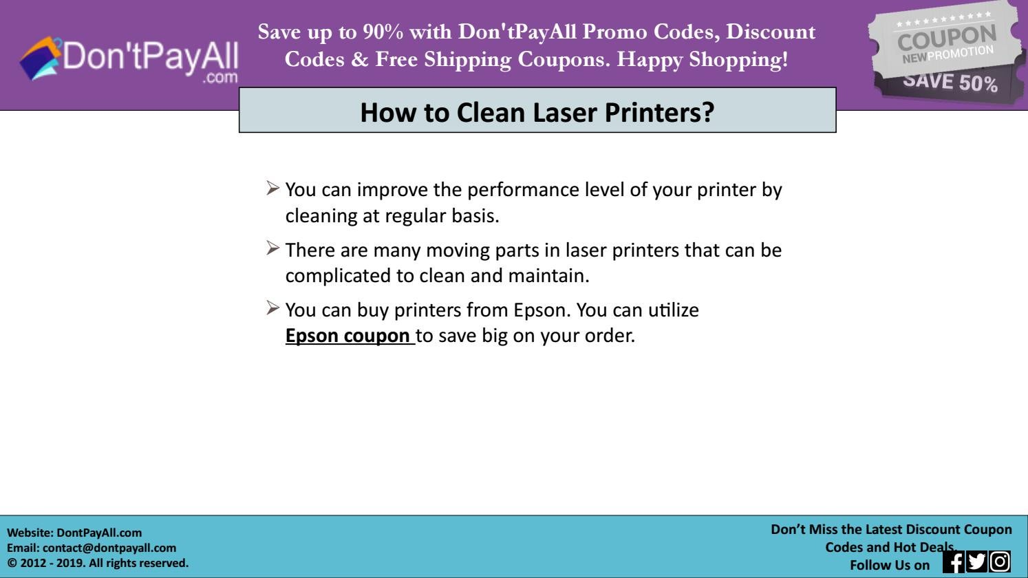 Online Savings On Printers With Epson Discount Code By Dontpayallcoupons Issuu