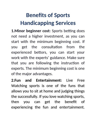 Sports betting handicapping services 7500 pts freeroll bovada betting