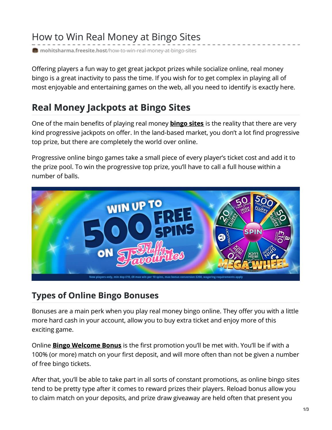 Bingo Games Win Real Money
